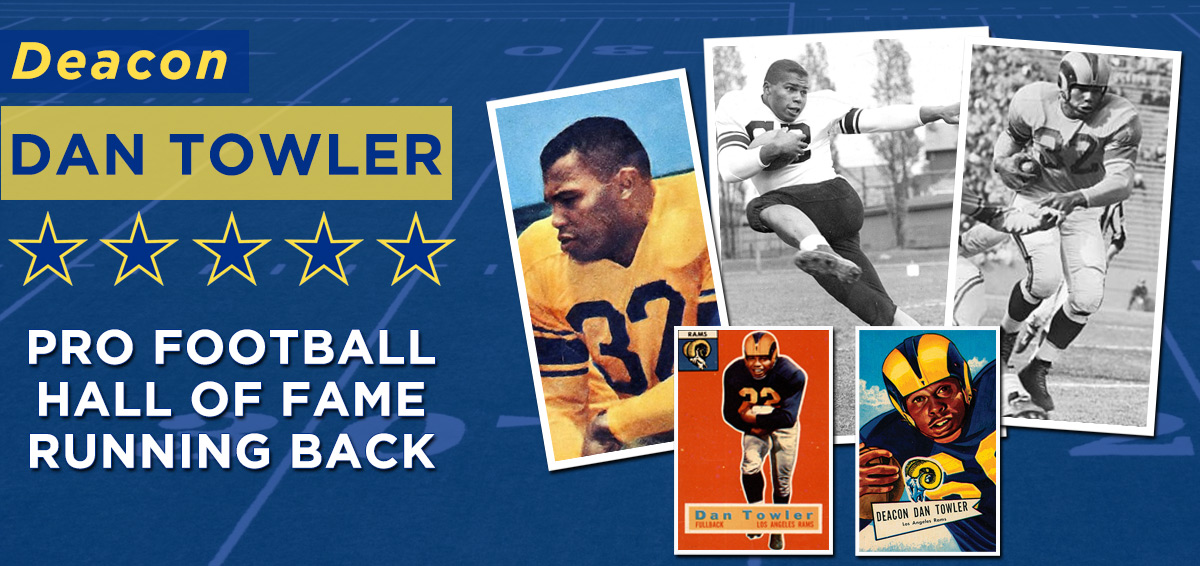 Deacon Dan Towler for the Pro Football Hall of Fame